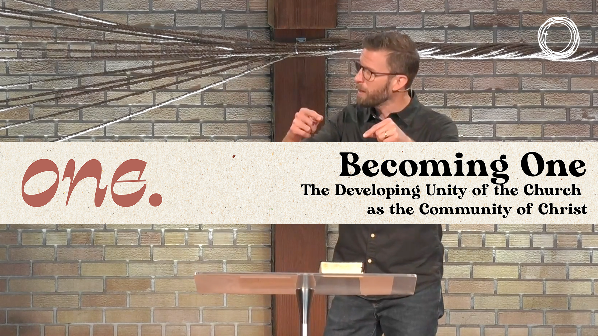 Becoming One: the developing unity of the church as the community of Christ