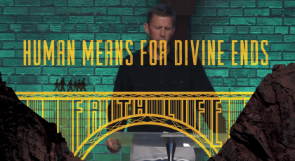 Human Means for Divine Ends