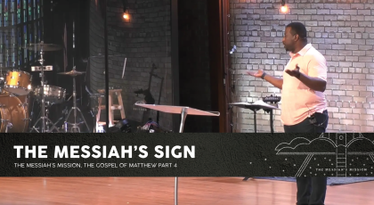 The Messiah's Sign